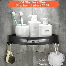 BLACK BATHROOM SHOWER 304 STAINLESS STEEL CORNER BASKET CADDY RACK SHELF STORAGE