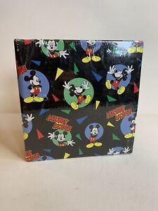 Vintage Retro Disney Mickey Mouse Photo Album Ring Binder Folder 80s 90s 4x6