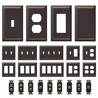 Oil Rubbed Bronze Wall Switch Plate Outlet Cover GFI Toggle Rocker Duplex Outlet