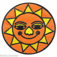 Sun Star Hippie Happy Smiley Face Smile Peace Aum Infinity Iron-On Patch #AU010