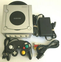 Gamecube Complete System Platinum Silver - Nintendo DOL-001 Tested Works Great