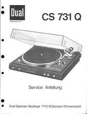 Dual Service Manual für CS 731 Q  .