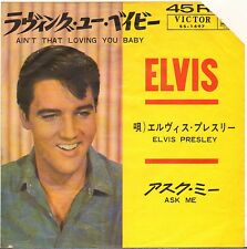 "ELVIS PRESLEY ""AIN'T THAT LOVING YOU BABY"" 1964 SP VICTOR 1497 JAPON ! VG+"