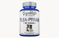 50 Tablets GoodLife Flea Killer For DOGS 25 -125 Lbs. 57 Mg Starts Working Fast
