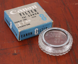 CANON 27MM THREADED SKYLIGHT FILTER (INTENDED FOR CINE 8), BOXED/193958