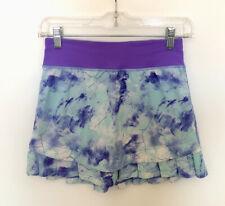 Ivivva By Lululemon Girls Size 10 Set The Pace Skirt Skort Ruffles Athletic