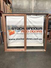 Timber Sliding Door 2105h x 2410w DOUBLE GLAZED  IN STOCK NOW  LEFT HAND SLIDE
