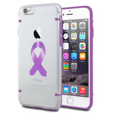 For Apple iPhone Clear TPU Case Color Awareness Alzheimers Pancreatic Testicular