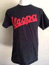 VESPA Metro Scooter Worn In Vintage Washed Black T-Shirt Size Medium (38-40)