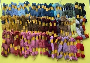 98 skeins VTG DMC Wool Divisible Floralia, Colbert, Tapisserie Embroidery Crewel