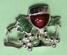 Grapes Sterling Silver 925 New Mint Convertible Bracelet Clasp - Wine And