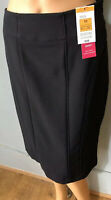 M&S Tailored Womens Pencil Skirt With Stretch Lined .Uk Size 10 Black BNWT