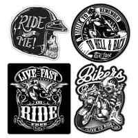 Biker Sticker Set Motorcycle Motorbike Vintage Custom Bobber Chopper Retro Decal