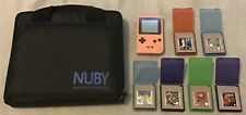 Game Boy Pocket Pink Console with Games Bundle Mario Kirby Nuby Case