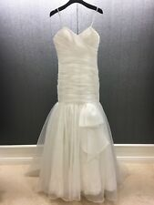 Mori Lee Strapless Lace & Organza Overlay Ivory Wedding Gown