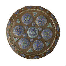 Large Islamic Syrian Engraved Copper and enameling Tray.