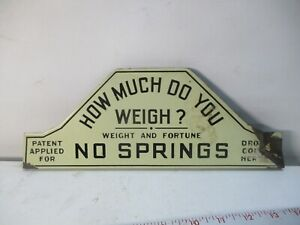 Vintage ANTIQUE ADVERTISING PORCELAIN PENNY ? SCALE SIGN ESTATE FIND