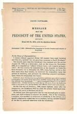 President Grover Cleveland Re: Jacob Newhard Disability Pension Request