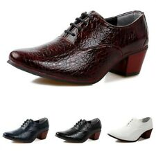 Mens British Pointed Toe Lace Up Nightclub Patent Leather Casual Oxfords Shoes