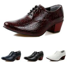 Dress Leather Mens Lace Up Low Heel Casual Formal Oxfords Shoes Patent Leather
