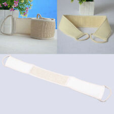 US Bath Exfoliating Towel Cotton Linen Band Strap Skin Cleaning Brush Bathroom