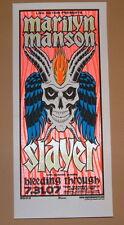 Marilyn Manson Slayer Cleveland Mike Martin Poster Handbill Print 2007