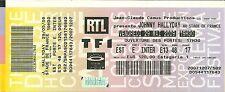 RARE / TICKET DE CONCERT LIVE - JOHNNY HALLYDAY AU STADE DE FRANCE - PARIS 2009