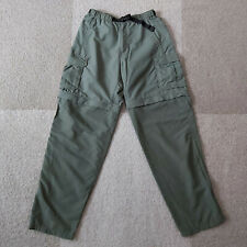 REI Convertible Pants Mens Size S 32L Army Green Hiking Outdoor Khakis Cargo
