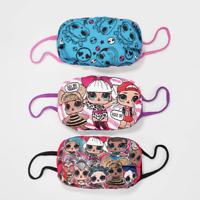 LOL SURPRISE FACE MASK Cover 3-PACK L.O.L SET of 3 Fashion Kids Girls