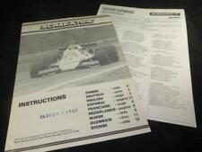 Vintage Scalextric Pista las instrucciones y la red de distribuidores folletos 1979/80