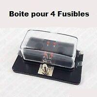 Boitier FUSIBLE Indicateur a Led + 4 Fusibles AUTO RALLYE CIRCUIT COMPÉTITION