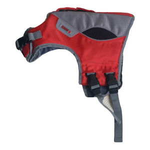 KONG SPORT AQUA Dog Life Vest Water Safety Jacket Small 16-30 lbs Red/Grey
