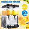 Commercial 2 Tank Juice Beverage Dispenser Cold Drink w/ Thermostat Controller