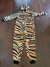 Nick and Nora Tiger- Cat Costume One Piece Soft & Warm Great For Halloween!