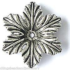 20 Tibetan Silver 22X5mm Flower Beads For Jewellery Making