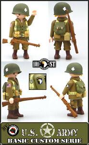 Playmobil Custom WW2 SOLDADO US ARMY NORMANDIA 101 AIRBORNE Ejercito Americano