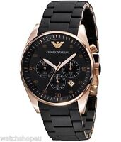 NEW EMPORIO ARMANI AR5905 ROSE GOLD MENS WATCH - 2 YEARS WARRANTY - CERTIFICATE
