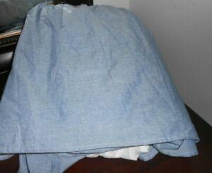 NWOP RALPH LAUREN AMERICANA Chambray BLUE QUEEN Bedskirt