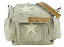 Unifarbene Schultertaschen aus Canvas/Segeltuch mit einem Träger