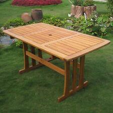 International Caravan Royal Tahiti Outdoor Wood Rectangular Dining Table, Brown