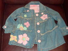 Bettlejuice 2T toddler girl embellished jeans jacket overcoat