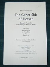 The Other Side of Heaven - Advance Page Proof - Curbstone Press, 1995