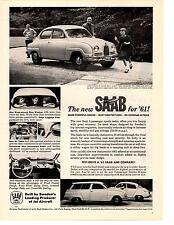 1961 SAAB 5-SEATER SPORTS SEDAN  ~  CLASSIC ORIGINAL PRINT AD