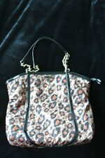 Betsey Johnson handbags Large Tote Overnight Bag Leopard pattern Rockabilly Punk