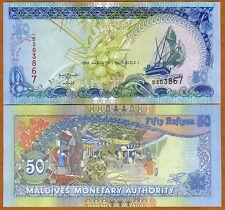 Maldives, 50 Rufiyaa, 2008, Pick 21, UNC