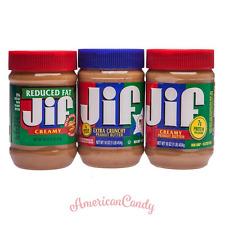 2x Jif Peanut Butter 454g USA amerikanische Erdnussbutter 3 Sorten (13,21€/kg)