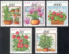 San Marino 1992 Flowers/Cacti/Cactus/Orchid/Roses/Plants/Nature 5v set (s4351)