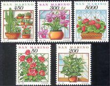 San Marino 1992 flores/Cactus/Cactus/Orquídea/rosas/plantas/naturaleza 5v Set (s4351)