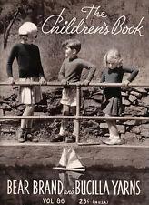 Bear Brand & Bucilla #86 c.1935 The Children's Book, Knitting & Crochet Patterns