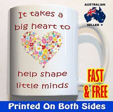 It takes a big heart gift for teacher flowers COFFEE MUG CUP end of year present